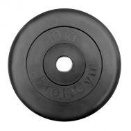 """Диск обрезиненный """"ProfiGym"""" d 26 мм чёрный 10,0 кг, фото 1"""