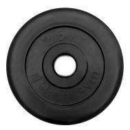 """Диск обрезиненный """"ProfiGym"""" d 26 мм чёрный 2,5 кг, фото 1"""