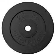 """Диск обрезиненный """"ProfiGym"""" d 26 мм чёрный 20,0 кг, фото 1"""