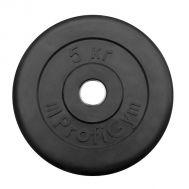"""Диск обрезиненный """"ProfiGym"""" d 26 мм чёрный 5,0 кг, фото 1"""
