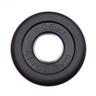 """Диск обрезиненный """"ProfiGym"""" d 51 мм чёрный 1,25 кг, фото 1"""