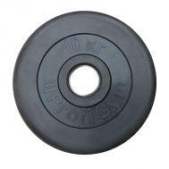 """Диск обрезиненный """"ProfiGym"""" d 51 мм чёрный 10,0 кг, фото 1"""