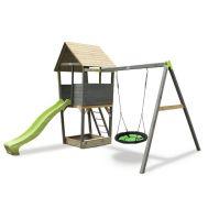 Игровой комплекс Акцент с кaчелями-гнездо, фото 1