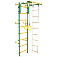 Детский спортивный комплекс «ЮНЫЙ АТЛЕТ» модель «Пристенный» зелёно/жёлтый, фото 1