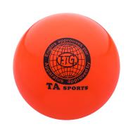 Мяч для художественной гимнастики RGB-101, 19 см, оранжевый, фото 1