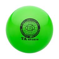 Мяч для художественной гимнастики RGB-101, 19 см, зеленый, фото 1