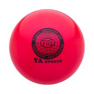 Мяч для художественной гимнастики RGB-101, 19 см, красный, фото 1