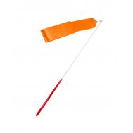Лента для художественной гимнастики RGR-201, 6 м, с палочкой, оранжевая, фото 1
