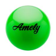 Мяч для художественной гимнастики AGB-101, 15 см, зеленый, фото 1