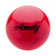 Мяч для художественной гимнастики AGB-101, 15 см, красный, фото 1