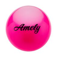 Мяч для художественной гимнастики AGB-101, 15 см, розовый, фото 1