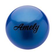 Мяч для художественной гимнастики AGB-101, 15 см, синий, фото 1