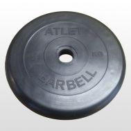 Диск обрезиненный d 51 мм черный 5 кг Atlet, фото 1