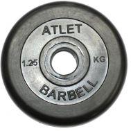 Диск обрезиненный d 31 мм черный 1,25 кг Atlet, фото 1