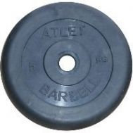 Диск обрезиненный d 31 мм черный 5 кг Atlet, фото 1