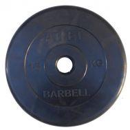Диск обрезиненный d 31 мм черный 15 кг Atlet, фото 1
