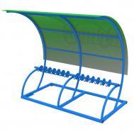 Парковка для самокатов Лотос с навесом на 14 мест, фото 1