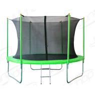 Батут JUNHOP 8'. Комплект с защитной сетью и лестницей. Зеленый, фото 1