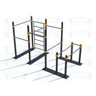 Мобильный спортивный комплекс  с лестницей, турниками и брусьями СВС-103, фото 1