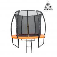 DFC KENGOO Fitness Батут 8ft футов (244 см) внутр.сетка, лестница, оранж/черн, фото 1