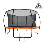 Батут DFC KENGOO Fitness 12ft футов (366 см) внутр.сетка, лестница, оранж/черн (2 кор) (батуты), фото 1