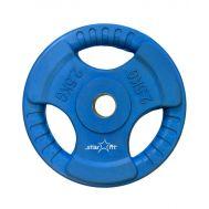 Диск обрезиненный STARFIT BB-201  2,5 кг, d=26 мм, стальная втулка, синий 1/8, фото 1