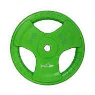 Диск обрезиненный STARFIT BB-201 10 кг, d=26 мм, стальная втулка, зеленый 1/2, фото 1