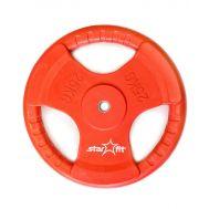 Диск обрезиненный STARFIT BB-201 25 кг, d=26 мм, стальная втулка, красный 1/1, фото 1