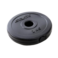 Диск пластиковый STARFIT BB-203  1 кг, d=26 мм, черный 1/20, фото 1