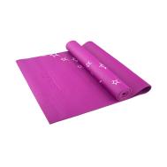 Коврик для йоги STARFIT FM-102 PVC 173x61x0,3 см, с рисунком, фиолетовый 1/20, фото 1