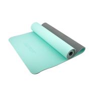 Коврик для йоги STARFIT FM-201 TPE 173x61x0,6 см, мятный/серый 1/12, фото 1