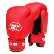 Перчатки боксерские Silver BGS-2039, 10oz, к/з, красный, фото 1