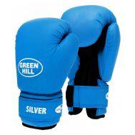 Перчатки боксерские Silver BGS-2039, 14oz, к/з, синий, фото 1