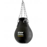 Груша боксерская Е522, кожзам, 12 кг, черный, фото 1
