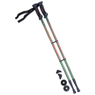 Палки для скандинавской ходьбы Longway, 77-135 см, 2-секционные, тёмно-зеленый/оранжевый, фото 1