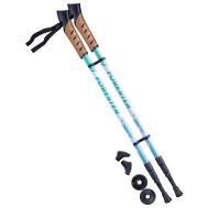 Палки для скандинавской ходьбы Forester, 67-135 см, 3-секционные, белый/мятный, фото 1