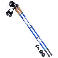 Палки для скандинавской ходьбы Rainbow, 77-135 см, 2-секционные, синий/голубой, фото 1