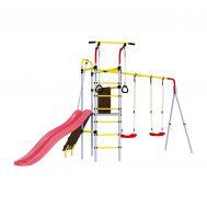 Детский спортивный комплекс для дачи Romana R.103.09.04 + 1.D-26.01 + 1.D-26.01 Островок Плюс (пластиковые качели), фото 1