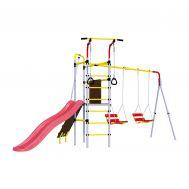 Детский спортивный комплекс для дачи Romana R.103.09.04 + 1.D-26.02 + 1.D-26.02 Островок Плюс (цепные качели), фото 1
