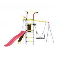 Детский спортивный комплекс для дачи Romana R.103.09.04 + 1.D-26.03 Островок Плюс (качели гнездо), фото 1