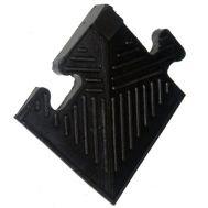 Уголок резиновый для бордюра, черный, толщина 12мм, фото 1