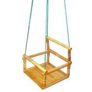 Качели деревянные детские, фото 1