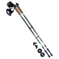Палки для скандинавской ходьбы Starfall, 77-135 см, 2-секционные, чёрный/белый/ярко-зелёный, фото 1