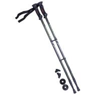 Палки для скандинавской ходьбы Longway, 77-135 см, 2-секционные, чёрный/ярко-зелёный, фото 1