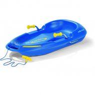 Санки-ледянки Сноу Макс с ручным тормозом, синие, фото 1