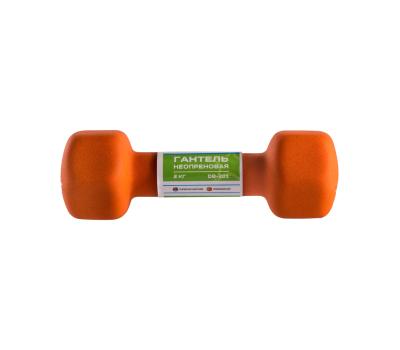 Гантель неопреновая STARFIT DB-201 2 кг, оранжевый (1 шт.) 1/10, фото 3