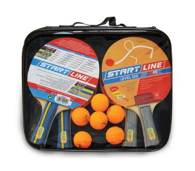 Набор START LINE: 4 Ракетки Level 200, 6 Мячей Club Select, упаковано в сумку на молнии с ручкой., фото 1