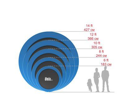 Батут UNIX line 12 ft outside (Blue), фото 16