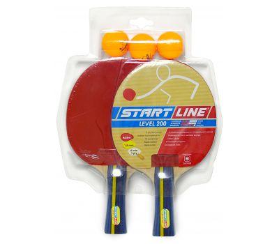 Набор START LINE: 2 Ракетки Level 200, 3 Мяча Club Select, фото 1