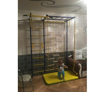 """Детская шведская стенка ДСК """"Пионер - С4ЛМ"""" зелёно/жёлтый, фото 7"""